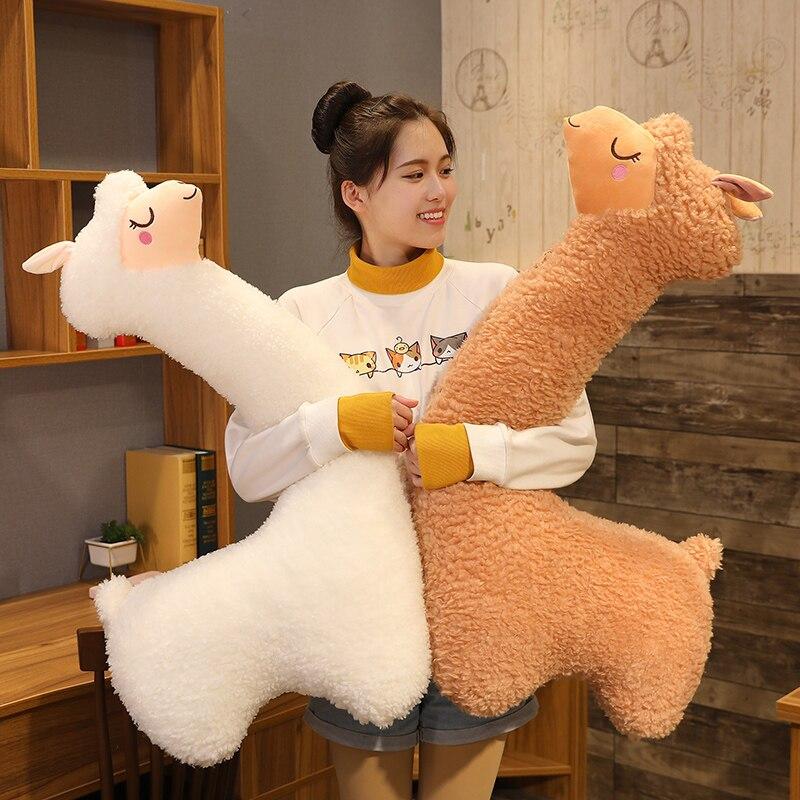 Hug Giant Alpaca Stuffed Animal Kawaii Sleeping Pillow Cartoon Plush Toys Kids Present Toys Children