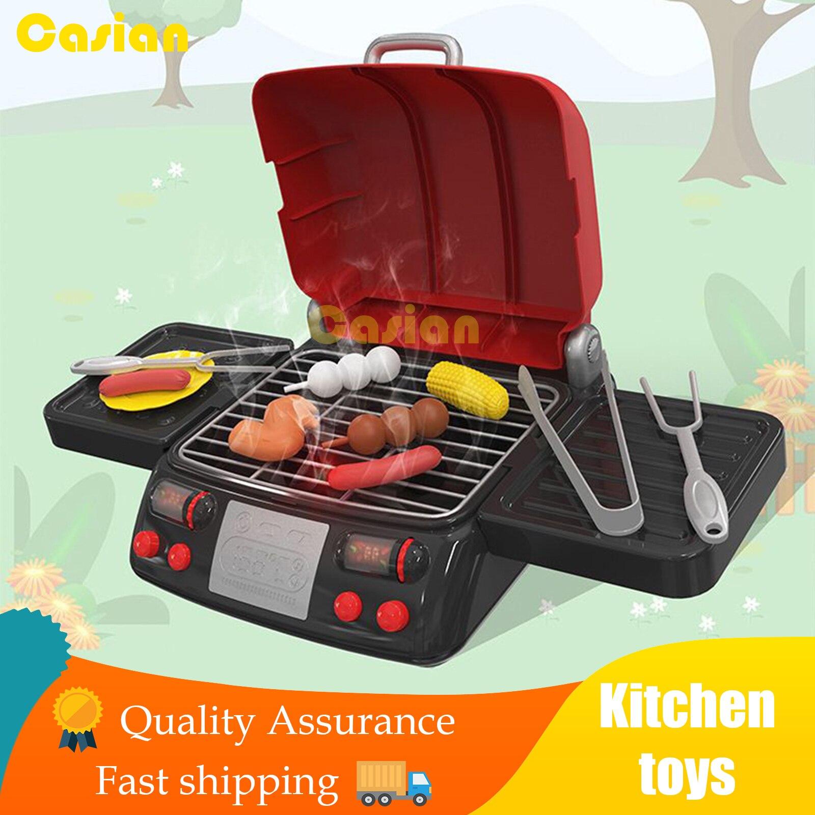 Моделирование набор кухонных игрушек для барбекю Электрический спрей печь для барбекю ролевые игры еда игрушечное барбекю комплект ролевы...