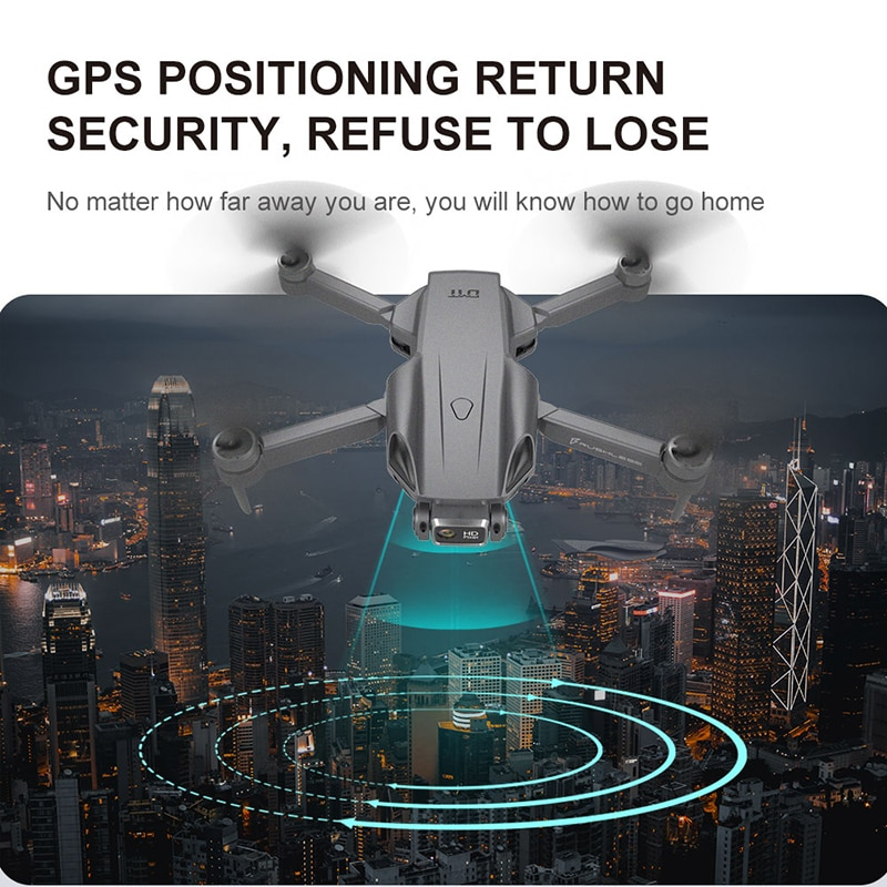 RC Quadcopter Drone camera HD 4K GPS Professional 1.2KM Long Distance 5G FPV 25mins Smart follow Brushless Foldable Dron H9MAX enlarge
