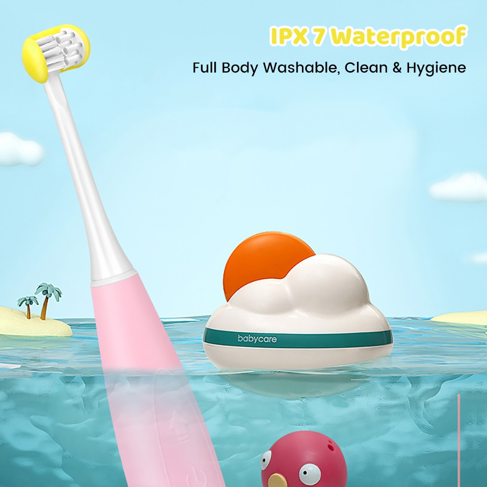 Kids 3D Ultrasonic U-Shaped Toothbrush USB Rechargeable Three-Side 5 Mode Sonic Electric Toothbrush for Children enlarge