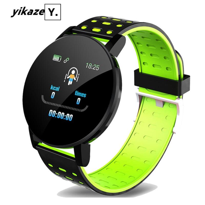 119 Plus Bracelet intelligent fréquence cardiaque montre intelligente hommes femmes Bracelet sport bracelets de montre étanche Smartwatch pour Android IOS