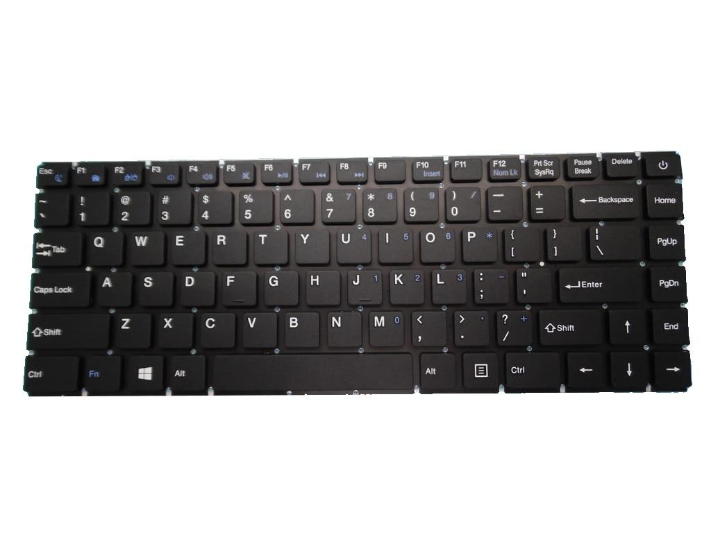 لوحة مفاتيح للكمبيوتر المحمول HAIER U1500EM 300-11-1 YJ-807 بدون إطار أسود الولايات المتحدة الأمريكية