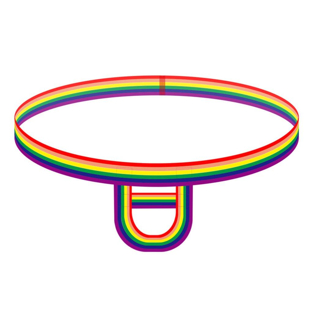 Ropa interior Sexy arcoíris hombres coloridas rayas hueco tangas anillo elástico calzoncillos para Hombre caliente Gay exótico Tanga a cuerdas Hombre