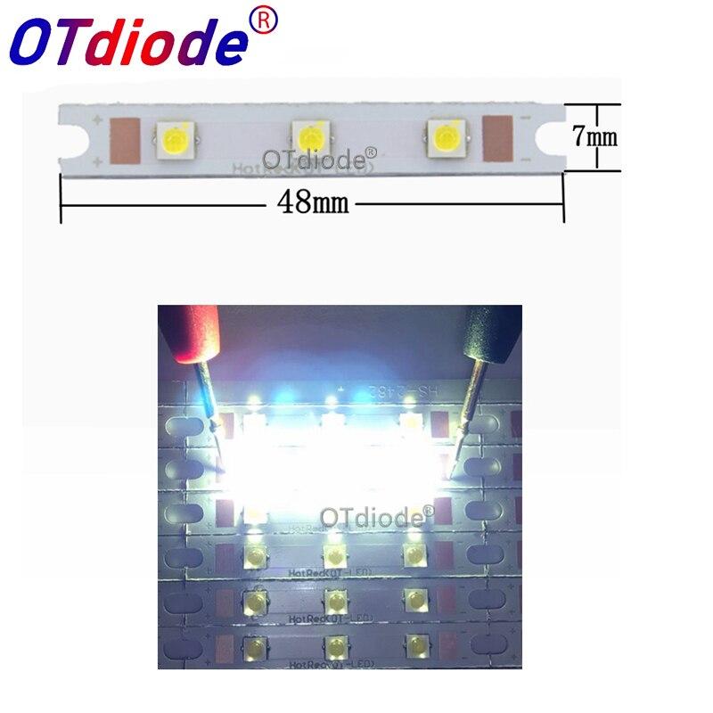 3W-9W (3pcs 3535 led) COB strip LED light source chip on board 48x7mm COB bar for wall lamps table lantern car lights DIY