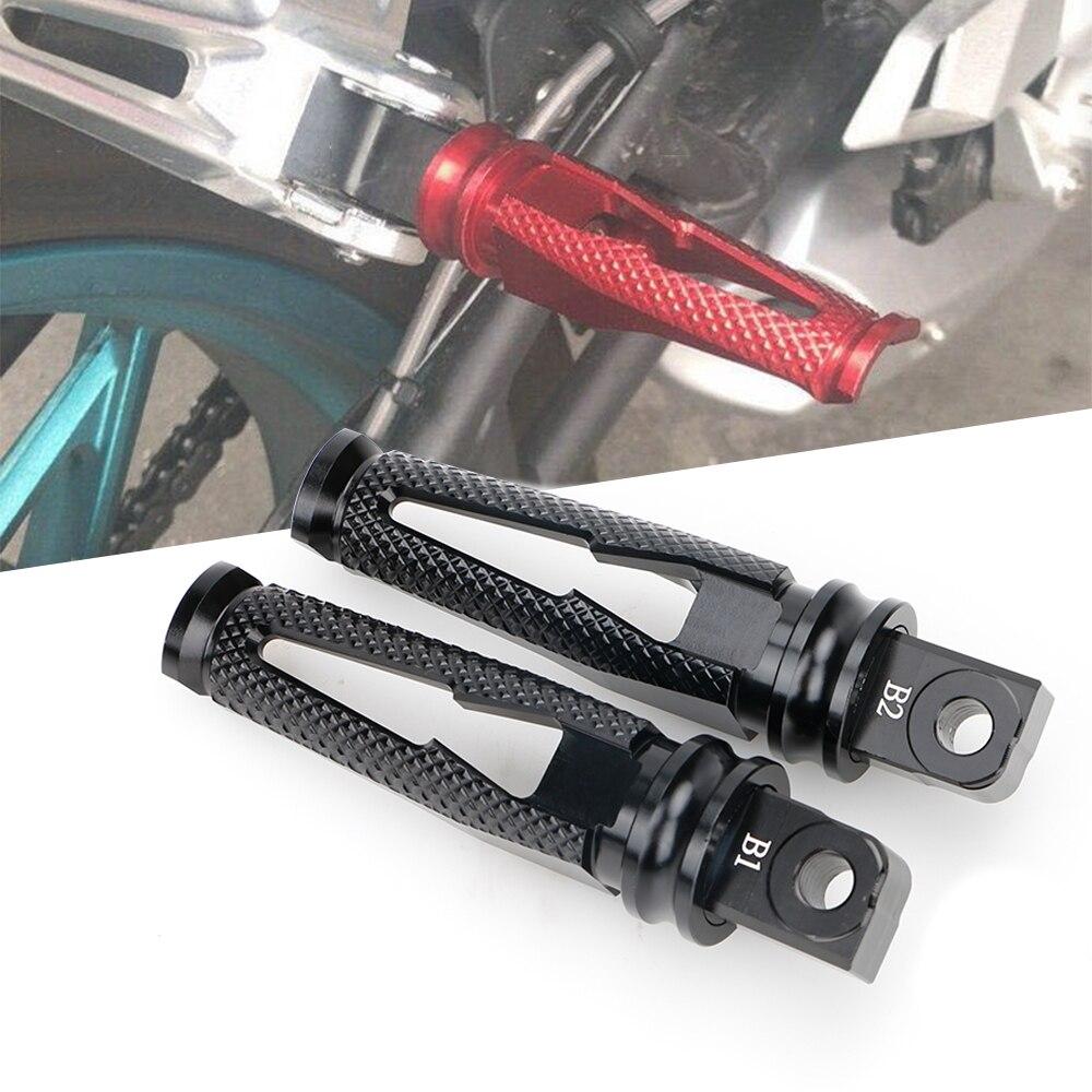 Para Suzuki GSX S100 1300 B-rey GSXR 600 K 5 100 1300 GSR 600 750 SFV 650 GSF 650 1250 bandido apoyapiés traseros Pedal reposapiés