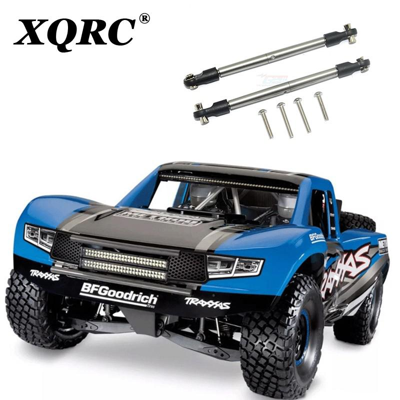 XQRC 1 pair of stainless steel servo front steering rod front and back teeth adjustable for UDR traxxas 1 / 7 unlimited Detert