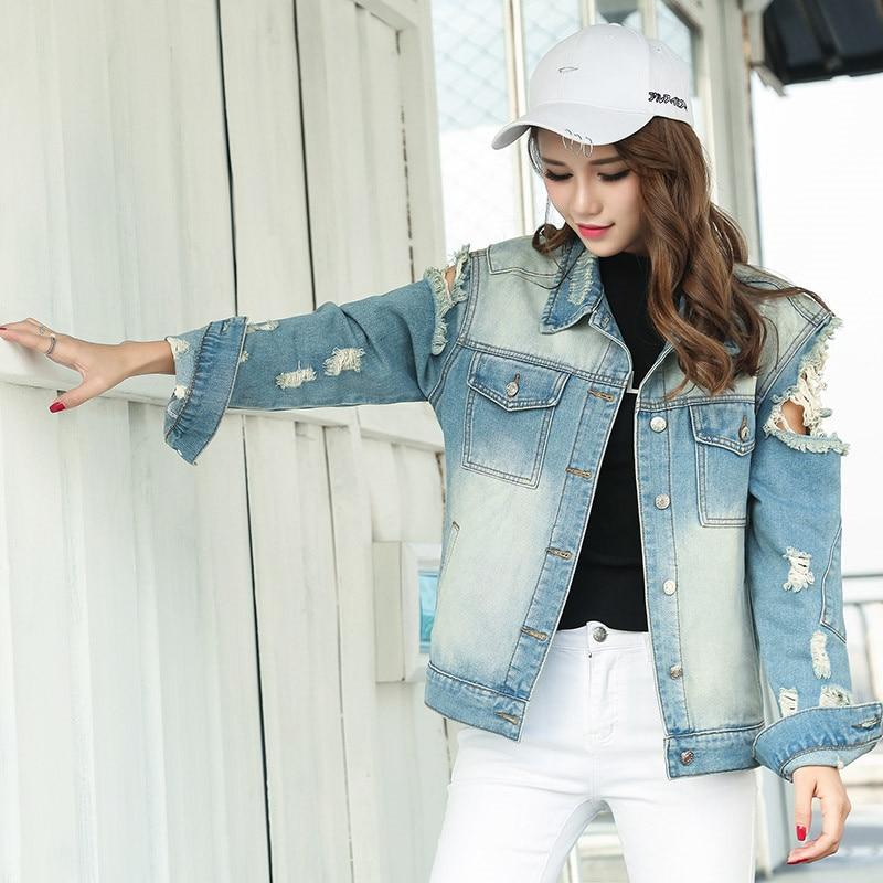 YUZACDWX 2020 Spring Fashion Vintage Funny Print Jean Jacket Women High Quality Autumn Denim Jacket