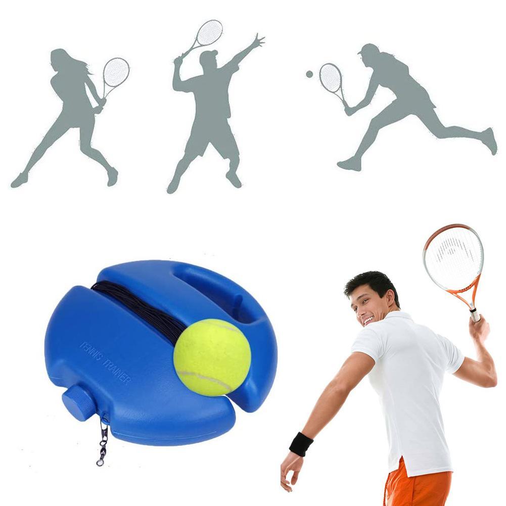 Nueva Base de entrenamiento de tenis con cuerda de rebote automático Anti-bobinado banda de goma entrenador de tenis