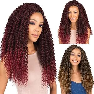 Aidaiya 18inch Twisted Passion Twist Hair Crochet Hair Synthetic Ombre Bomb Twist looped Fluffy Spring Twists Braiding Hair
