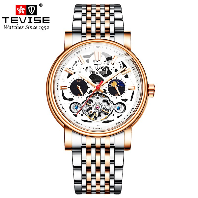 2021 Style Automatic Self-Wind Men's Mechanical Watch Male Skeleton Wristwatches enlarge