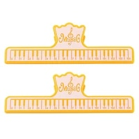 Pack Of 2 Music Book Clips Page Paper Clamps Guitar Accessories