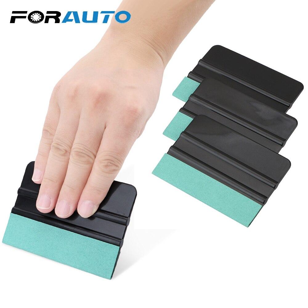 FORAUTO 3 uds herramienta de tinte de ventana sin arañazos gamuza fieltro envoltura rascador pegatina película de fibra de carbono vinilo escobilla herramientas de coche
