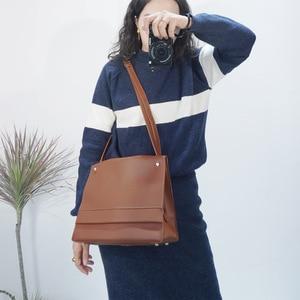 New brand high quality PU leather large pocket casual handbag women's handbag shoulder bag large capacity handbag Black Brown
