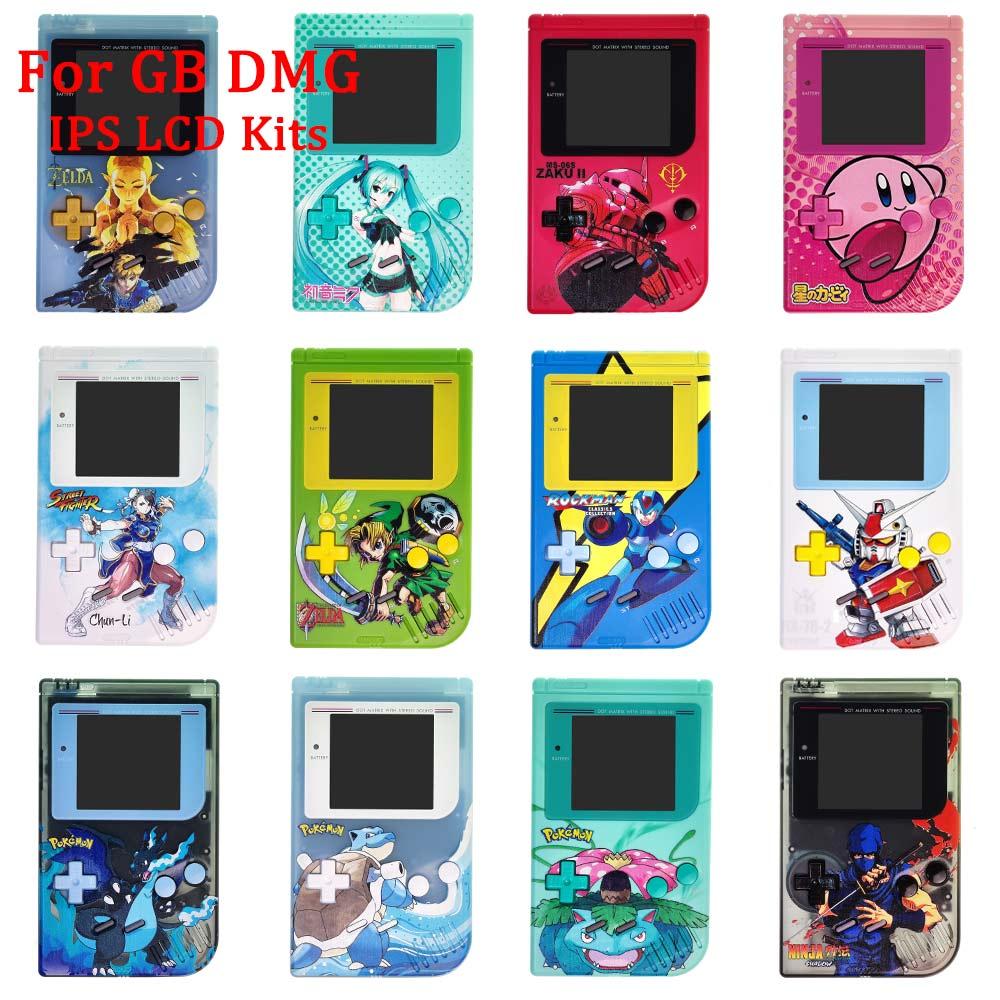 مجموعات مبيت مخصصة لـ GB DMG IPS LCD ، جديد ، 12 لونًا ، أطقم مع أزرار ، وسادات موصلة مطاطية لـ GameBoy Classic