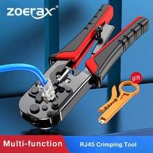 ZoeRax RJ45 Crimping Tool RJ45 Network Cutting Tools 8P RJ45 Crimper Cutter Stripper Plier for Modular RJ12 RJ11 Crimp Crimper