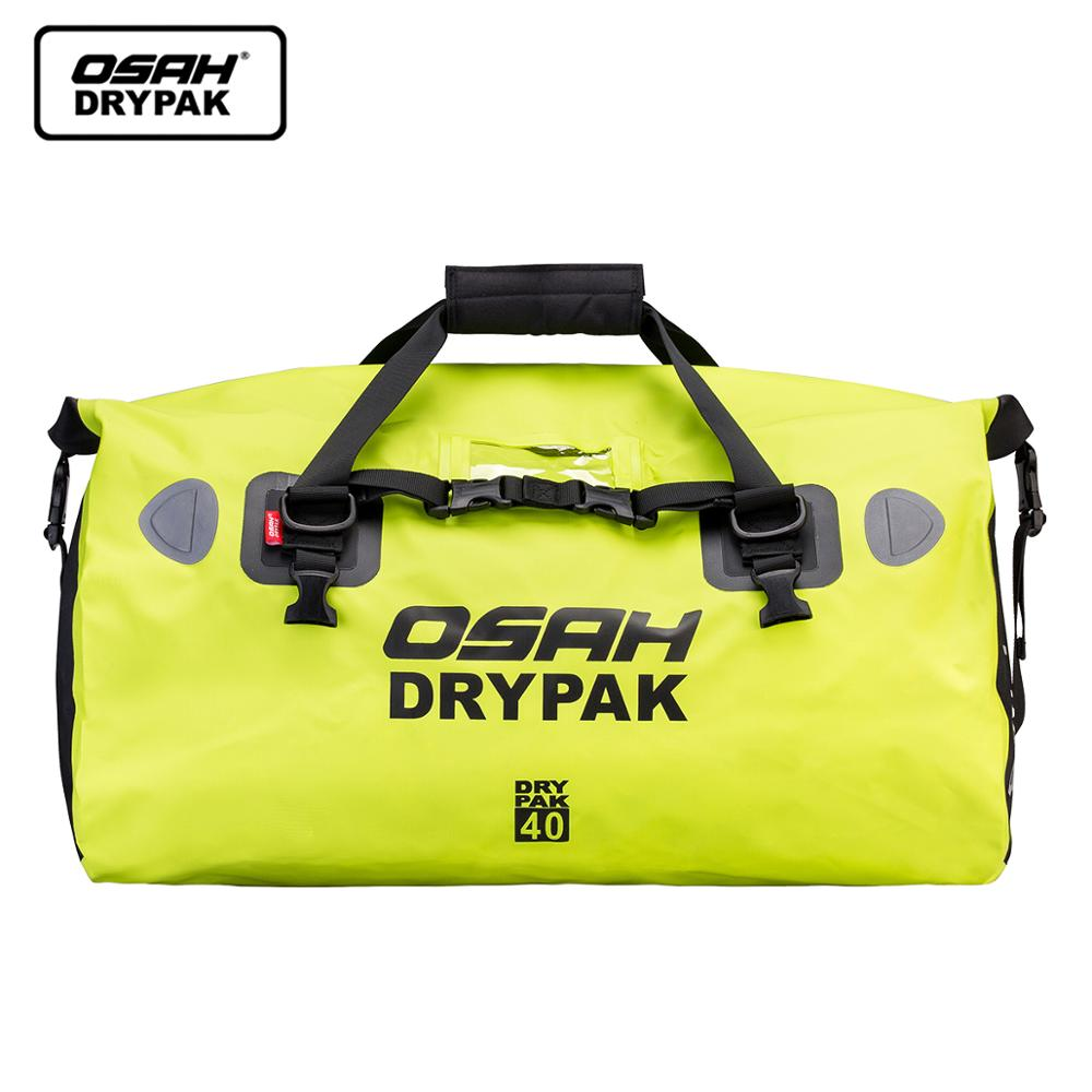 Waterproof Motorcycle Rear Tail Bag Travel Dry Bag OSAH DRYPAK Moto 40/60Liter Motorbike Luggage Backpack Motorcycle Seat Bag