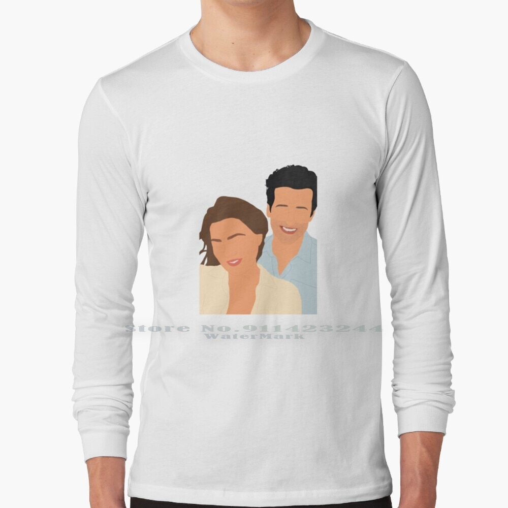 Meredith Derek Beach Long Sleeve T Shirt Tee Meredith Grey Derek Shepherd Greys Anatomy Ellen Pompeo Patrick Dempsey Greys