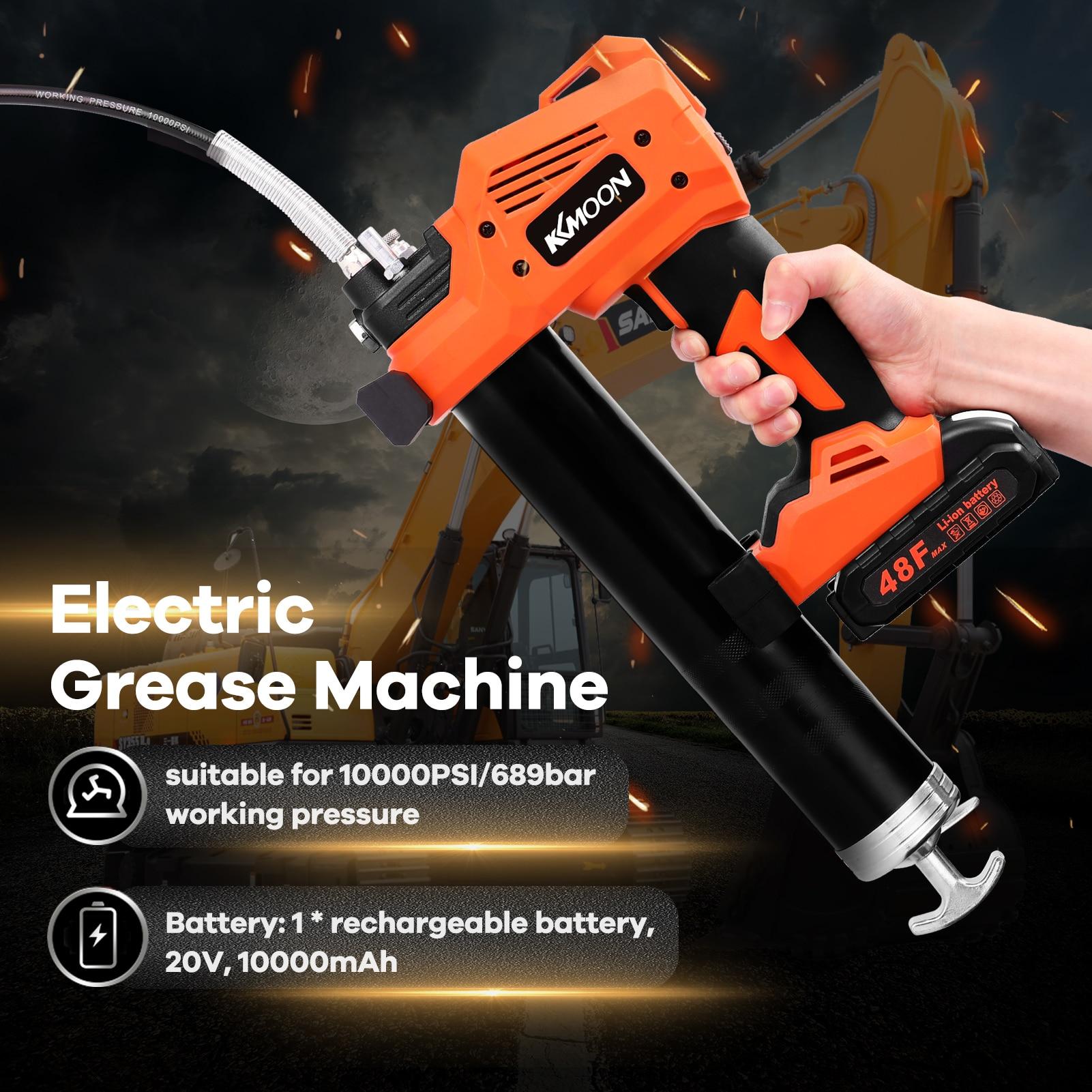 آلة الشحوم الكهربائية S88 اللاسلكي القابلة لإعادة الشحن آلة الشحوم الكهربائية عالية الضغط سيارة زيت تشحيم التزود بالوقود أداة