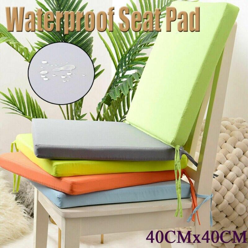 40x40cm cojín desmontable sólido cuadrado para silla lazo al aire libre en jardín Patio cojín impermeable para asiento cojín textil para hogar