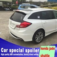 2013 2014 2015 2016 for honda jazz shuttle rear window roof high quality abs material change installation spoiler by primer