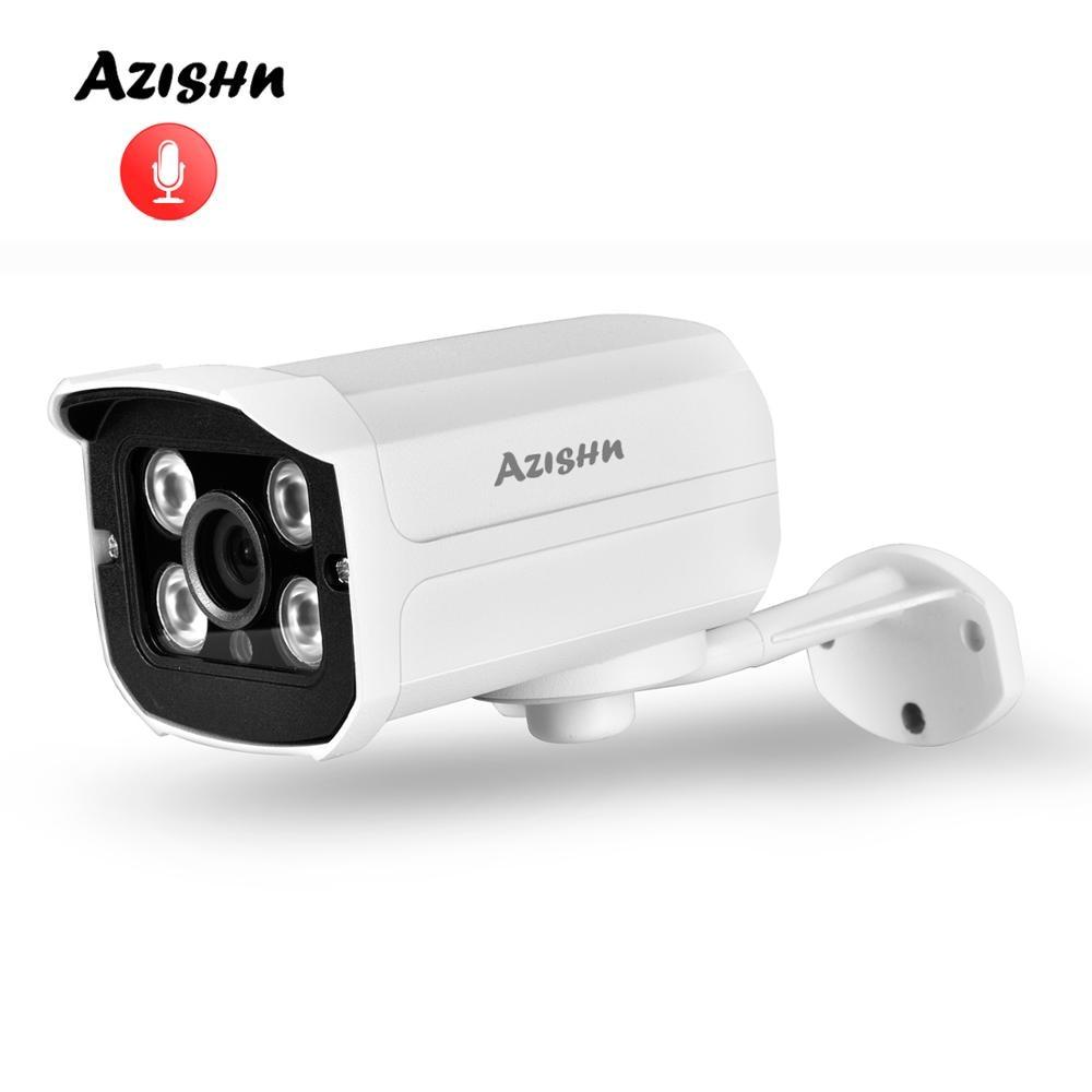 AZISHN IP كاميرا 2592x1944P الضوء الأسود 5MP الصوت في الهواء الطلق كاميرا mz1lux فائقة منخفضة الإضاءة 3MP 2MP تنبيه البريد الإلكتروني Xmeye