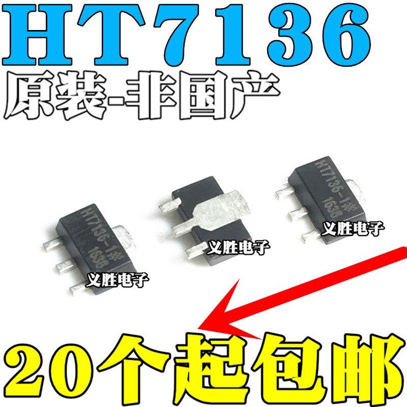 Original novo 10pcs/ HT7136-1 HT7136A-1 HT7136-1 SOT89
