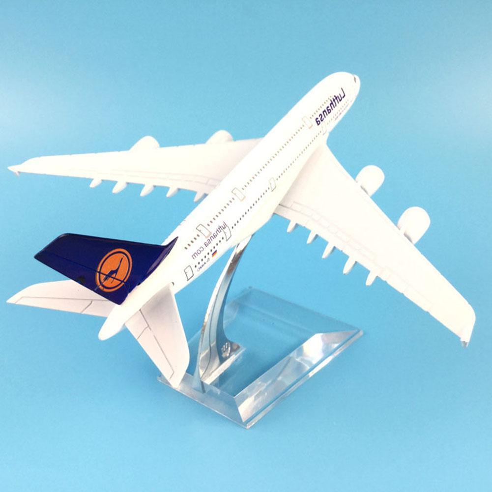 Avión de pasajeros A380 1/400 lufhansa A380 modelo de avión simulación 16 cm modelo de avión de aleación niños juguetes para Navidad regalos