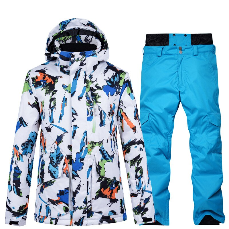 2020 New Winter Warm Windproof Snowboard Jacket Men Waterproof Outdoor Sports Snow Jackets and Pants Skiing Clothes Ski Suit