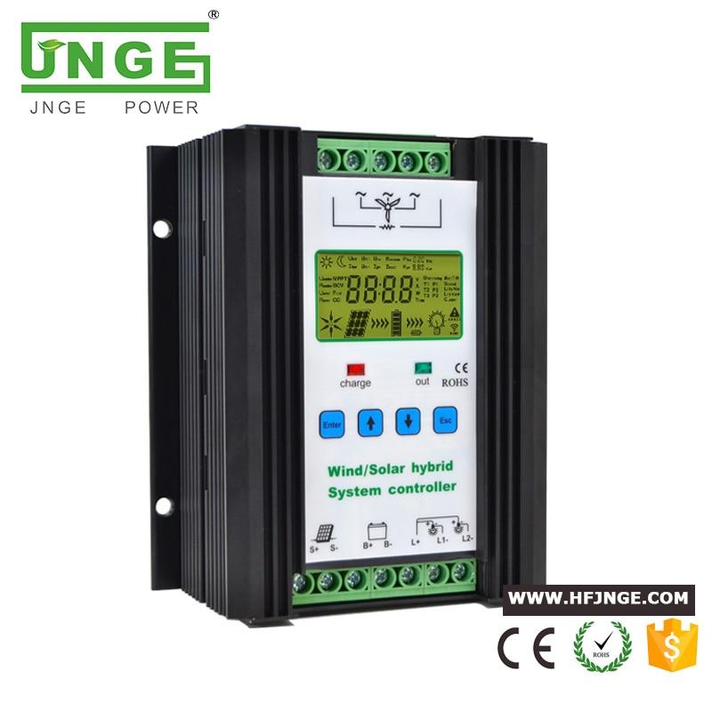 1000W الرياح 600W + الشمسية 400W 12/24V الرياح الشمسية الهجين تحكم تهمة ضوء التحكم الموقت التحكم LCD عرض