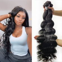 Fashow Hair Body Wave 30 32 34 36 40 inch Peruvian Hair Bundles 100% Human Hair Bundles Remy Hair Weaves Natural Color Extension