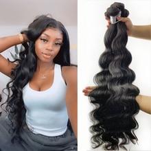 Fashow Hair Body Wave 30 32 34 36 40 inch Peruvian Hair Bundles 100% Human Hair Bundles Remy Hair We