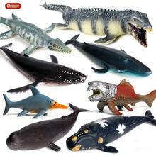 Oenux Soft Prehistoric Sea Life Animals Dunkleosteus Terrelli Mosasaurus Plesiosaur Ocean Blue Whale Model Action Figure Kid Toy