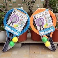 1pair kids tennis rackets with badminton balls indoors outdoors playing toy