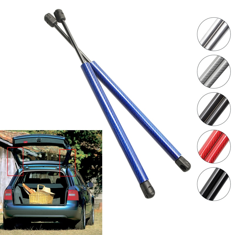 Fibra de carbono para Audi A6 (C5/4B) station wagon 1997-2004, maletero trasero, elevador de maletero, soportes de amortiguadores de resortes de Gas, barras de amortiguadores