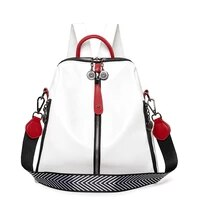 fashion new womens backpacks contrast color female backpack designer anti theft school bags girls large capacity travel mochila
