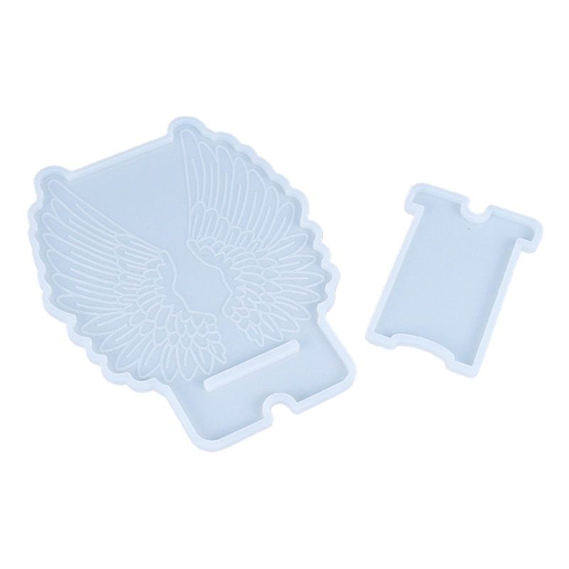 Crystal Epoxy Resin Mold Wing Phone Holder Cellphone Bracket Casting Silicone Mould DIY Crafts Decoration Making Tools