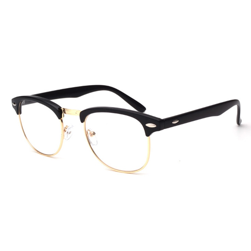 Vintage transparente lentes ópticos transparentes Gafas de marco redondo mujeres hombres Retro ojo vidrio Oculos Grau hombre mujer Gafas