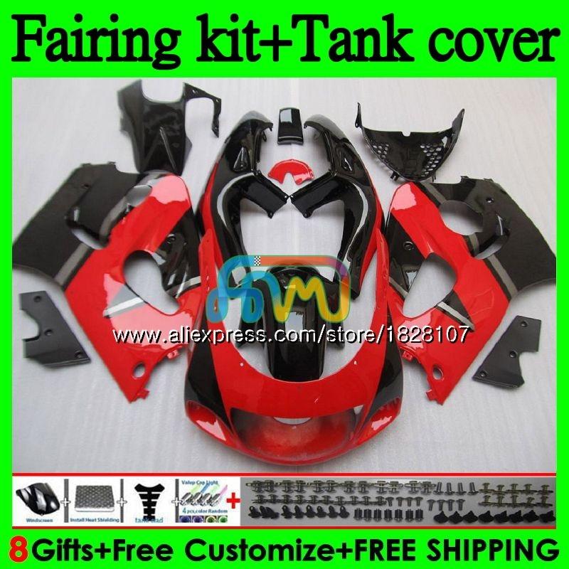 +Tank For SUZUKI GSXR600 GSXR 750 600 SRAD GSXR750 92BS.9 GSXR-600 96 Top Red black 97 98 99 00 1996 1997 1998 1999 2000 Fairing