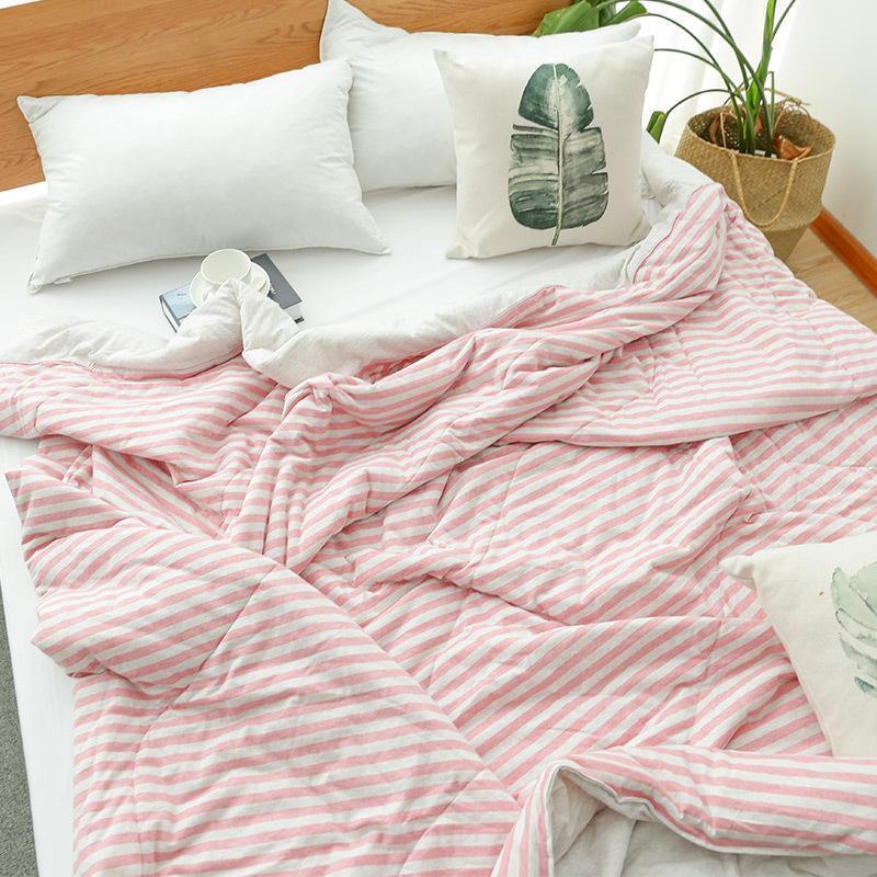 أغطية سرير قطنية مسامية للبالغين والأطفال ، لحاف صيفي مكيف هواء ، غطاء سرير ، لفصل الصيف