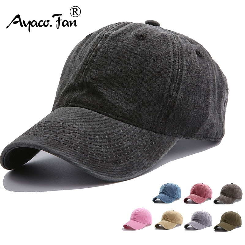Solid Spring Summer Cap Women Ponytail Baseball Cap Fashion Hats Men Baseball Cap Cotton Outdoor Sim
