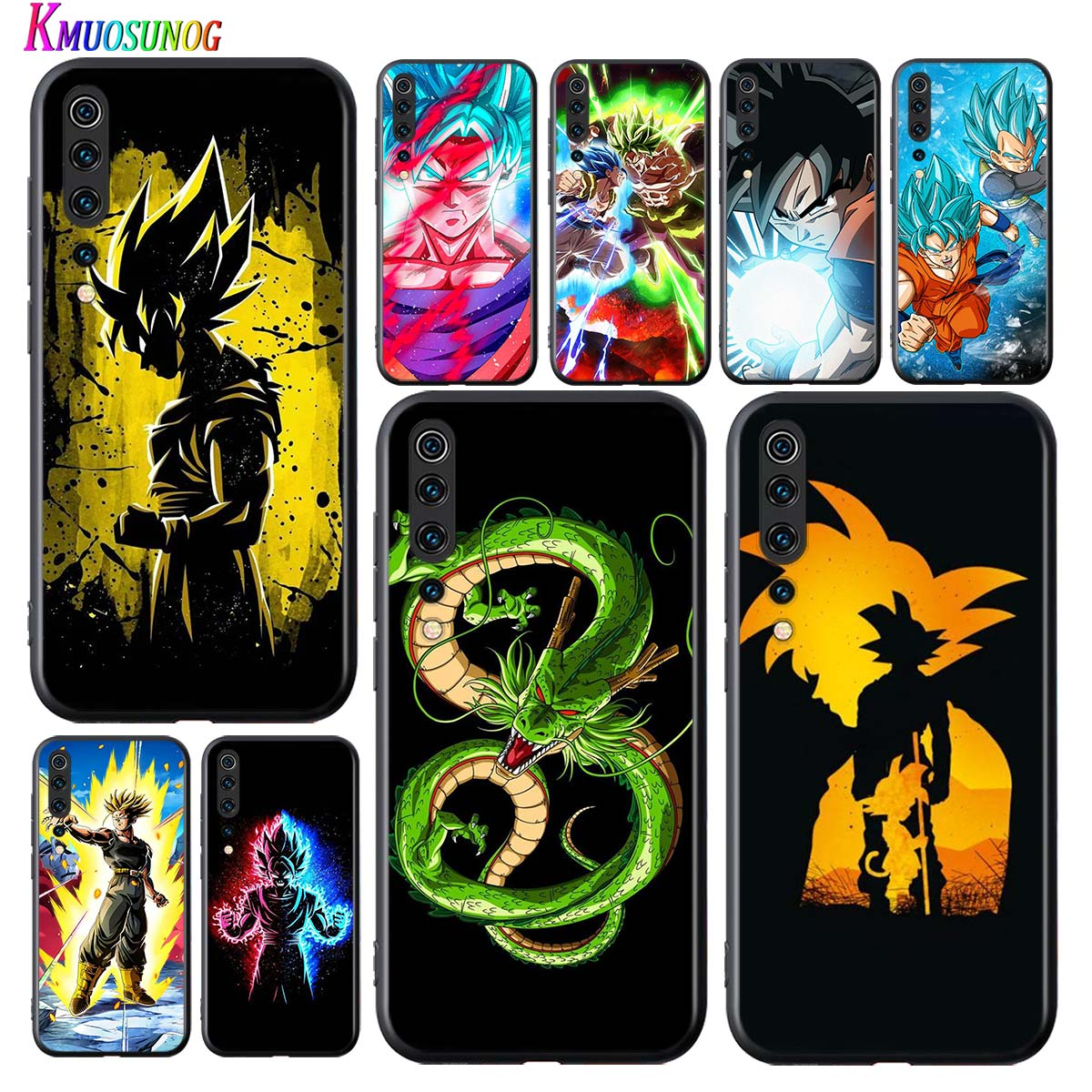 Negro cubierta de Dragon Ball Z hijo de Goku para Xiaomi Mi 5G 9 9T CC9 Lite Pro Nota 10 9 SE 8 A3 A2 6X Lite teléfono caso