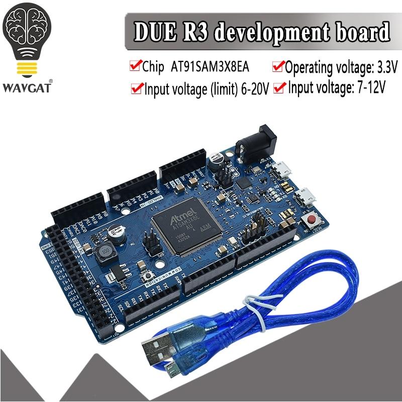 مسؤول بسبب R3 مجلس AT91SAM3X8E SAM3X8E 32-بت الذراع Cortex-M3 وحة التحكم وحدة ل اردوينو مجلس التنمية