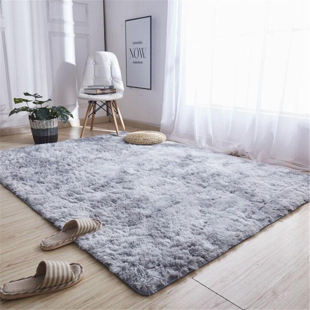Скандинавские ворсовые плюшевые Ковровые Коврики для гостиной большого размера, Противоскользящие коврики для спальни/Кабинета/коридора, мягкие ковры для детской спальни
