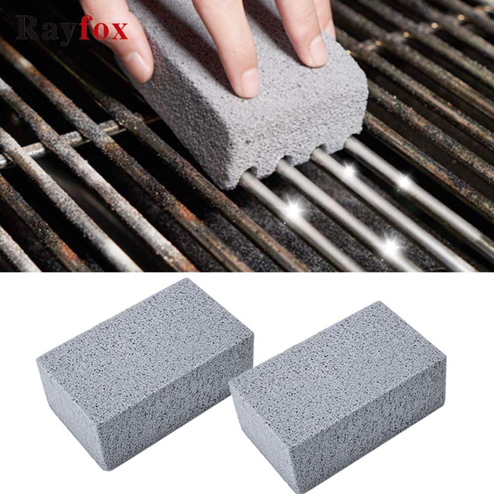 Utensílios de cozinha para churrasco, 2 peças, bloco de limpeza de grelha, pedra de limpeza para churrasco, manchas, limpador de graxa, ferramenta de limpeza