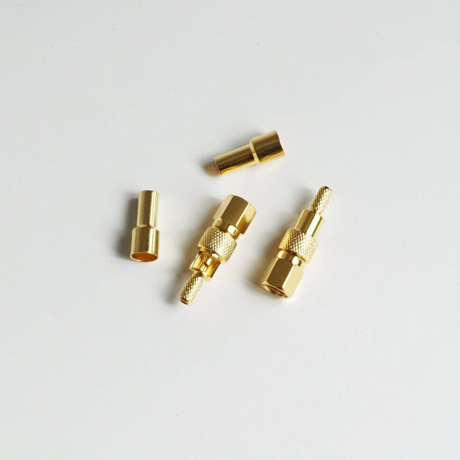 10 قطعة موصل SMC أنثى جاك تجعيد RG174 RG316 LMR100 كابل RF محوري مستقيم