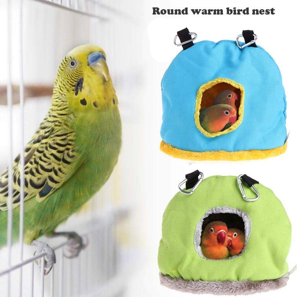 Hamaca de casa caliente para mascotas, jaula colgante de felpa para loro,...