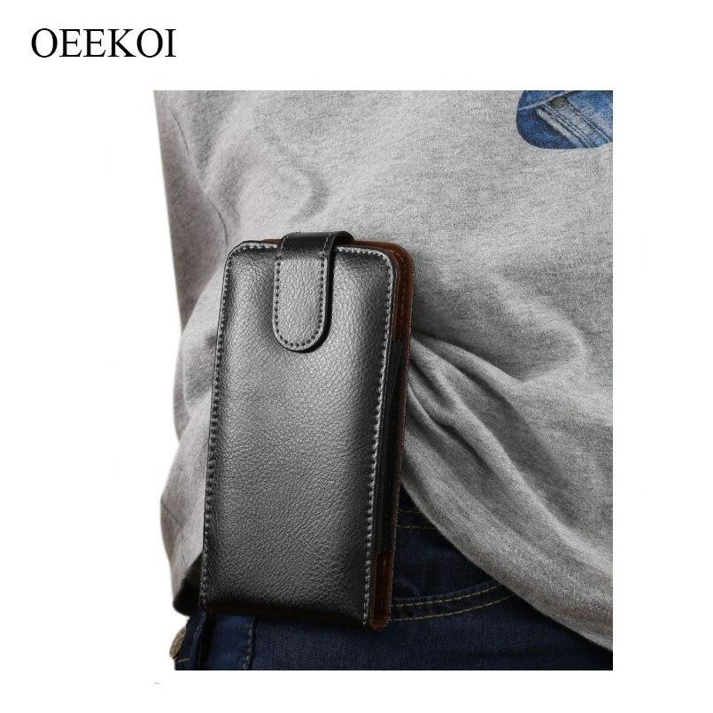 OEEKOI cuir véritable ceinture pince pochette housse pour Huawei P40 Pro Plus/P40 Pro/profiter 10e