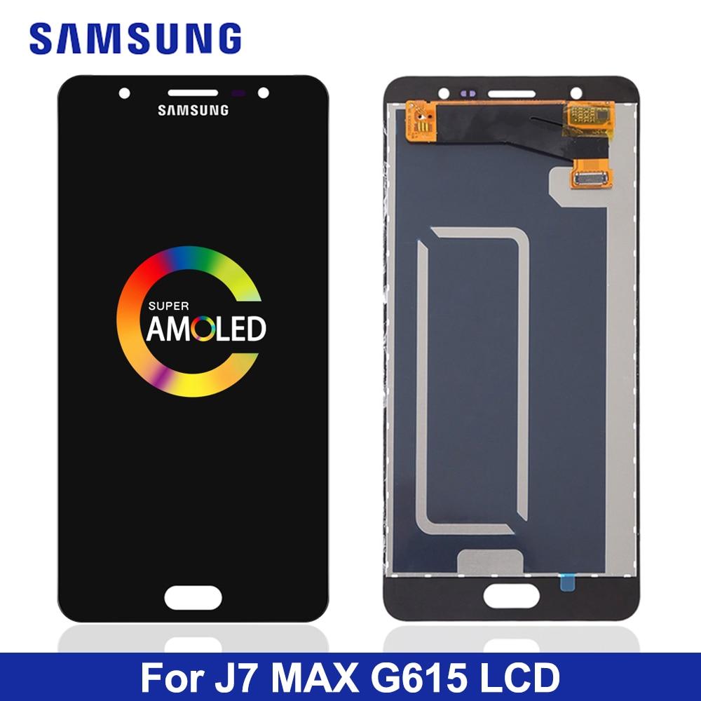 Prueba de 100% G615F J7 Max pantalla Lcd para Samsung Galaxy J7 Max G615 pantalla Lcd con montaje de digitalizador con pantalla táctil