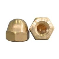 m3 m4 m5 m6 brass hex metric thread cap nuts copper decorative dome head cover semicircle acorn nut