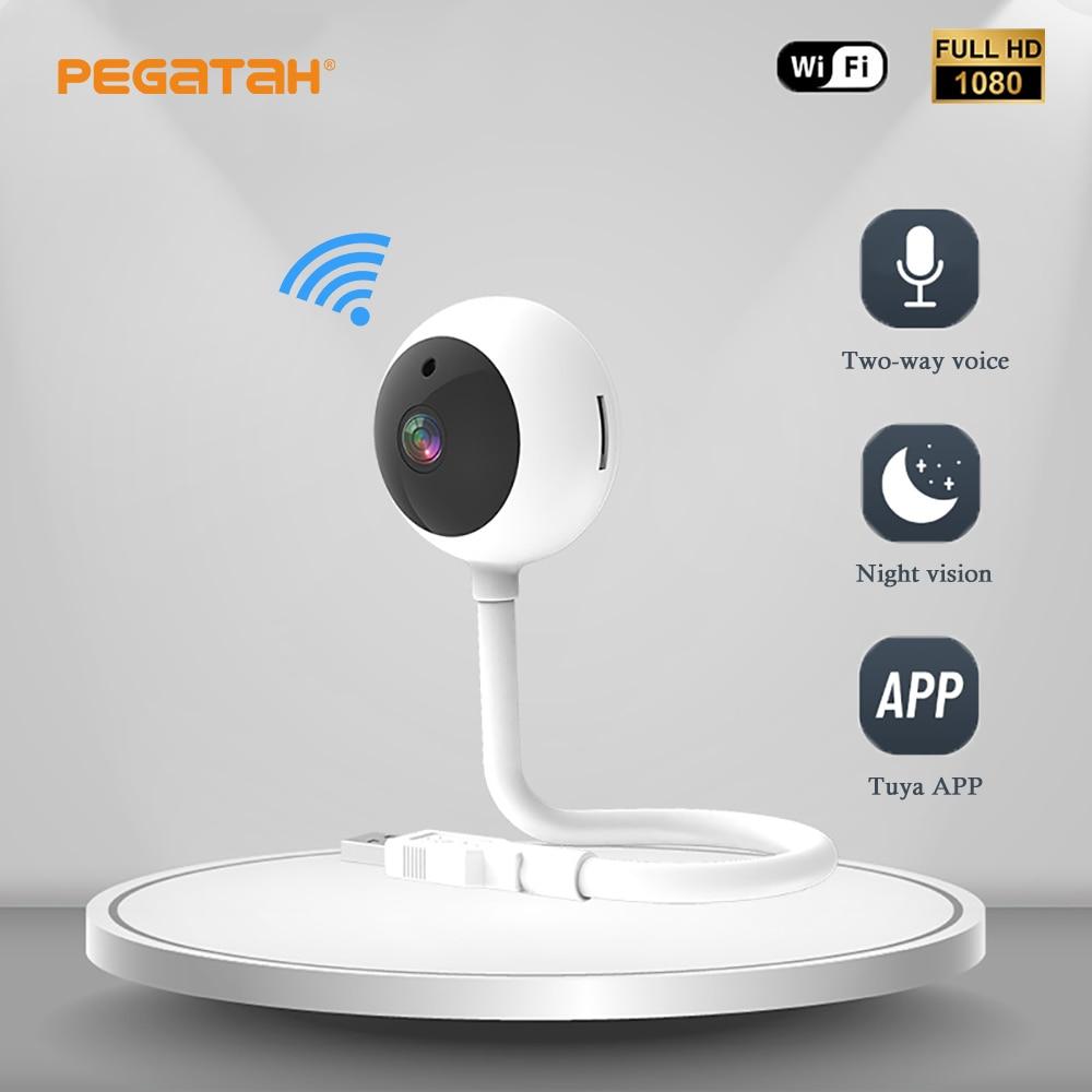 1080P HD IP كاميرا واي فاي صغيرة USB اتجاهين الصوت App عن بعد مشاهدة CCTV الأمن كاميرا مراقبة فيديو مراقبة الطفل